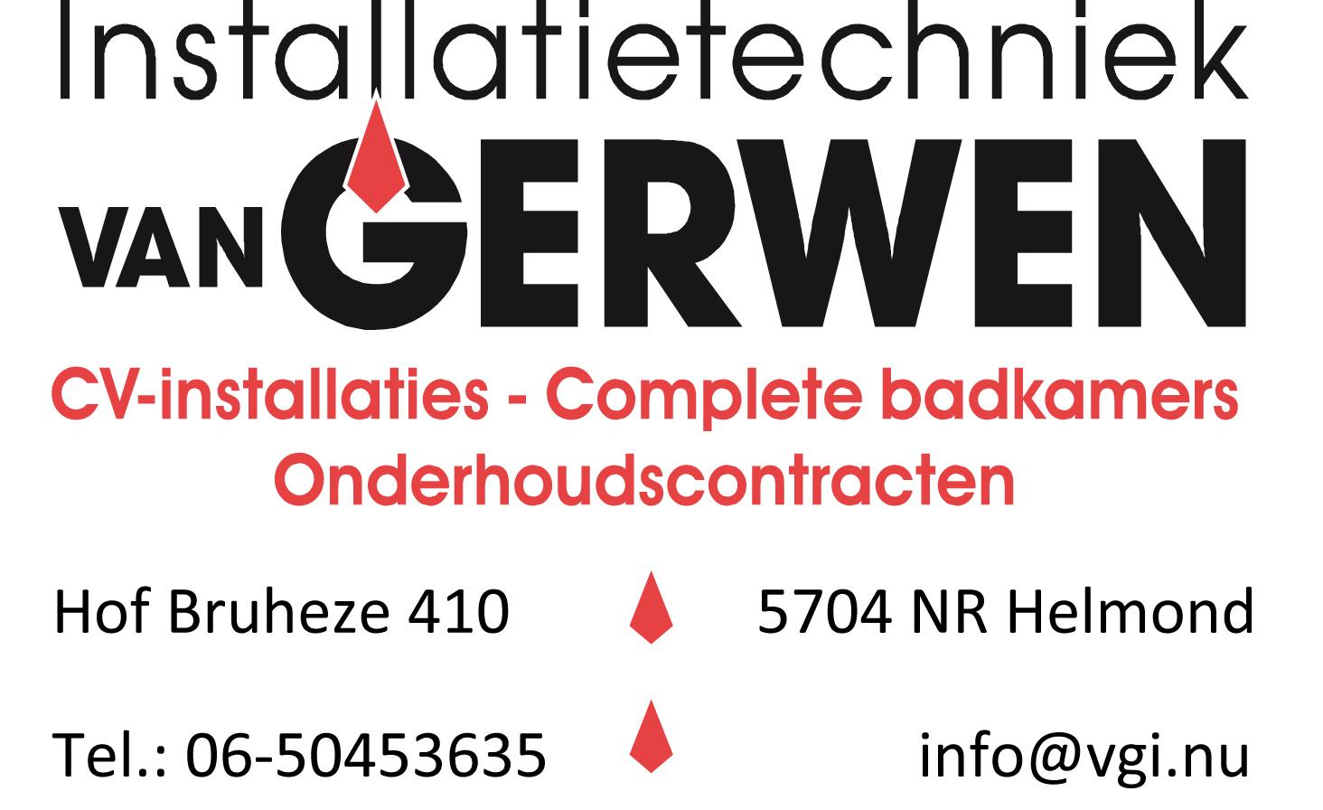 Logo van Gerwen Installatietechniek